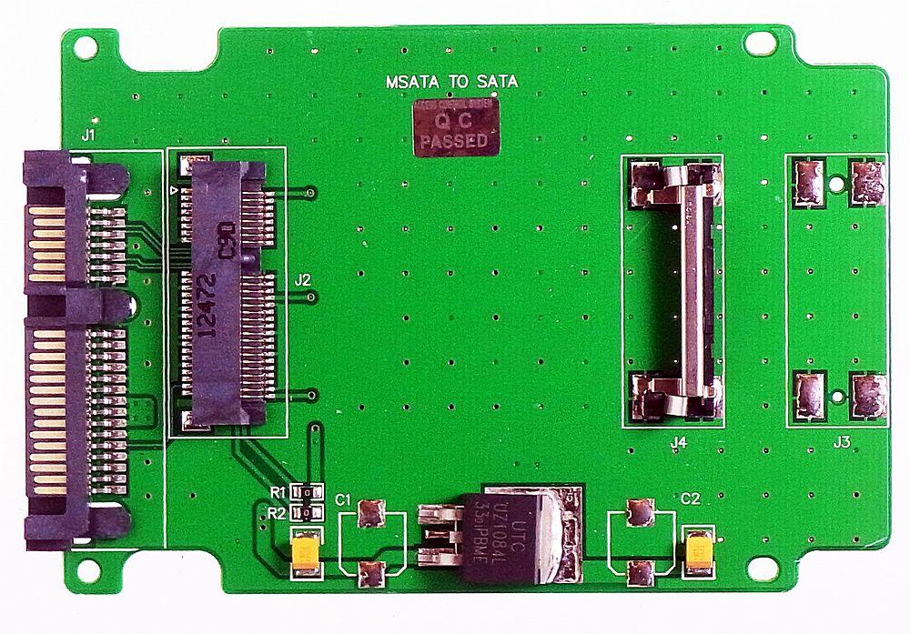 SATA3.0-Adapter für die Aufnahme einer M.2 SSD