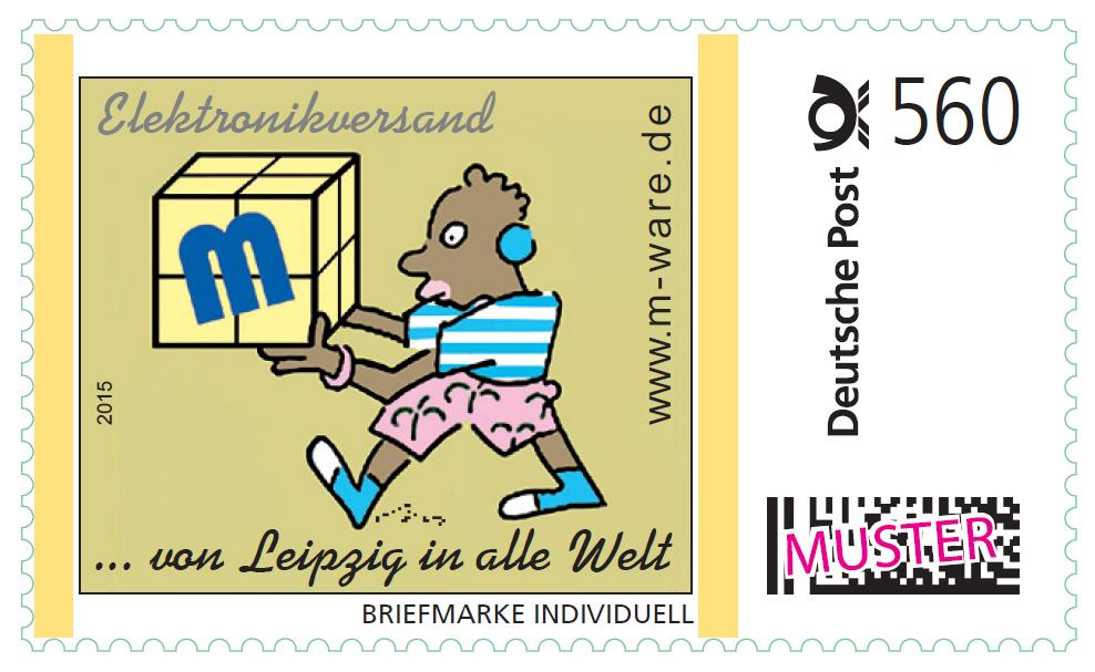 2 Cartoon-Briefmarken Afrikaner á 560ct. Porto, 2015, postfrisch