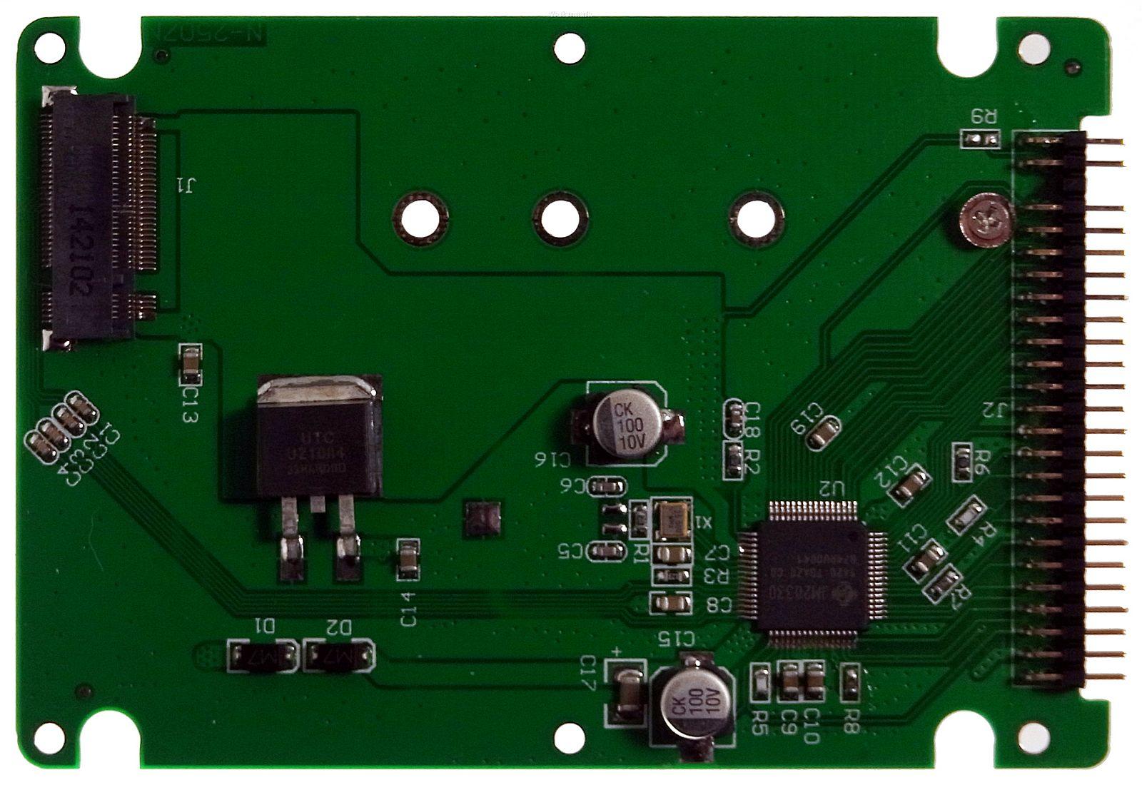 Mini-IDE-Adapter mit Aufnahme für eine M.2 SSD