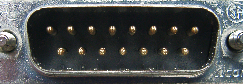 Sub-D-Stecker 15-polig