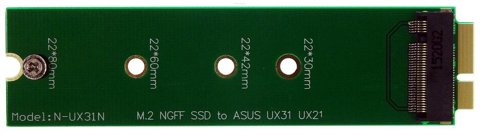 Adapter NGFF M.2 SSD zu XM11 Zenbook UX21 UX31 UX51 (B-Key + B+M-Key)
