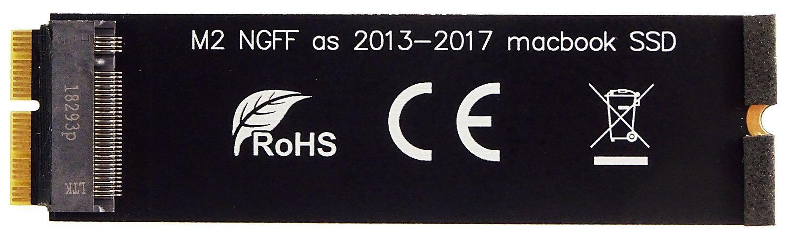 M.2 (NGFF) PCIe SSD als 2013-2017 MacBook-SSD