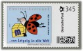 "3 cartoon postage stamps ""Ladybug 2"" á 345ct. postage value, 2015, mint #15576"