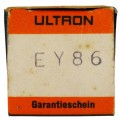 EY86 Half Wave Rectifier Tube by Ultron #17998