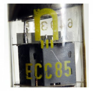 Radio Valve / Vacuum Tube ECC85 (with ring) Roehrenwerk Neuhaus #361