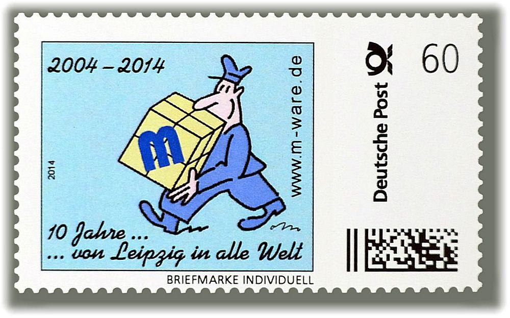 Briefträger: 60ct.-Jubiläumsmarke ... von Leipzig in alle Welt