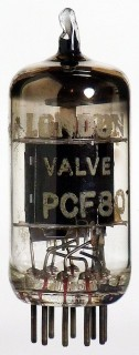 Vacuum Tube - Radio Valve (TV) PCF80 London Valve #1377