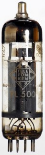Radio Tube Valve (TV) PL500 Telefunken w. diamond / rhomb #1501