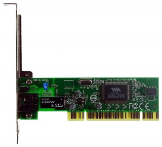 PCI Ethernet Adapter Via VT6105L 10/100 #1794