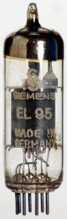 "TESTED ""good"" Radio Valve / Tube EL95 Siemens #291"