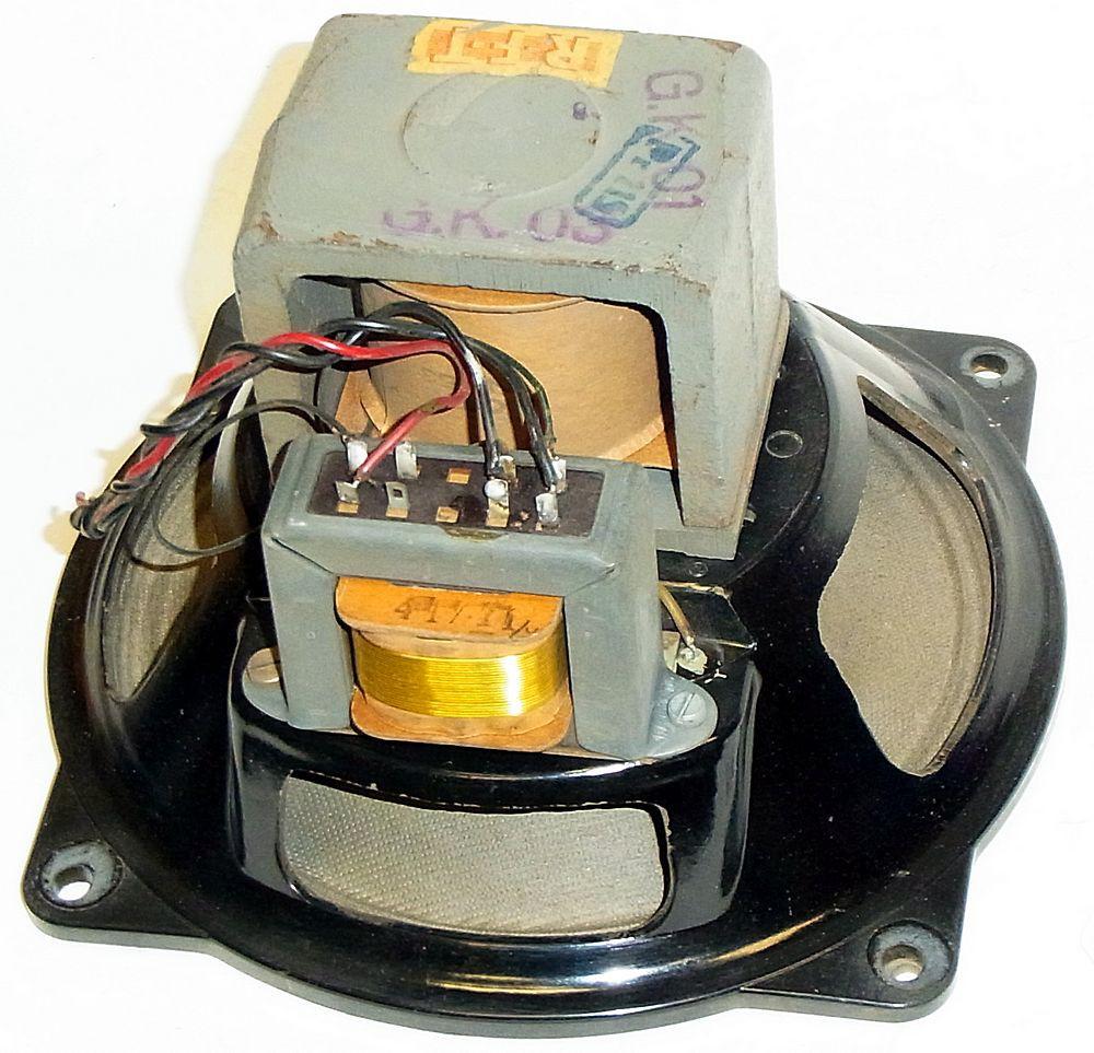 Feldspulen-Lautsprecher mit Bakelitgehäuse