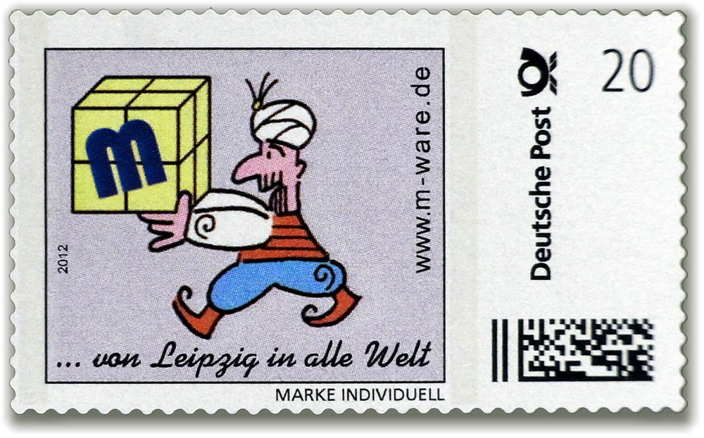 Cartoon-Briefmarke Inder 2012