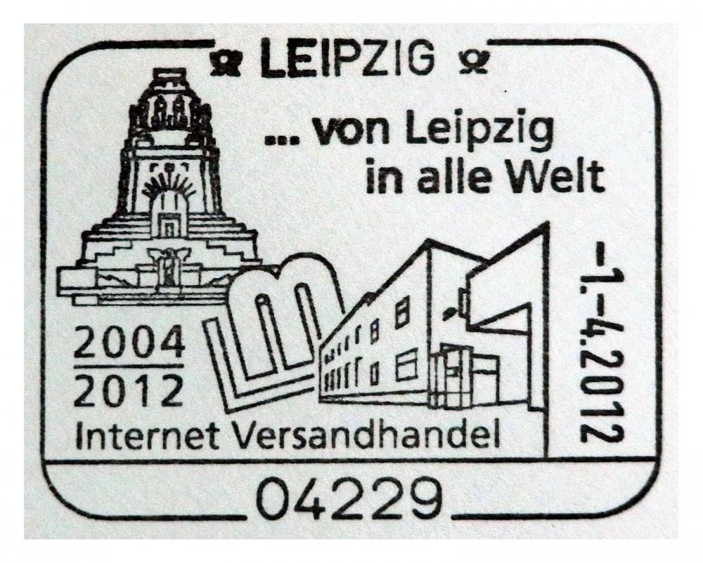 """Sonderstempel """"... von Leipzig in alle Welt"""""""