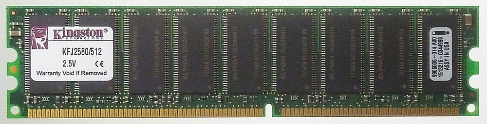 512MB SDRAM Kingston KFJ2580/512 PC-2100 Arbeitspeicher 512 MB ID11247