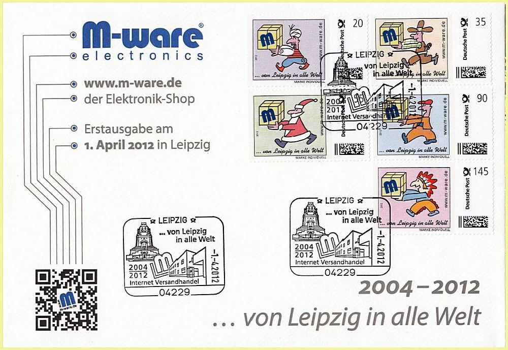 """Ersttagsbrief """"... von Leipzig in alle Welt"""""""
