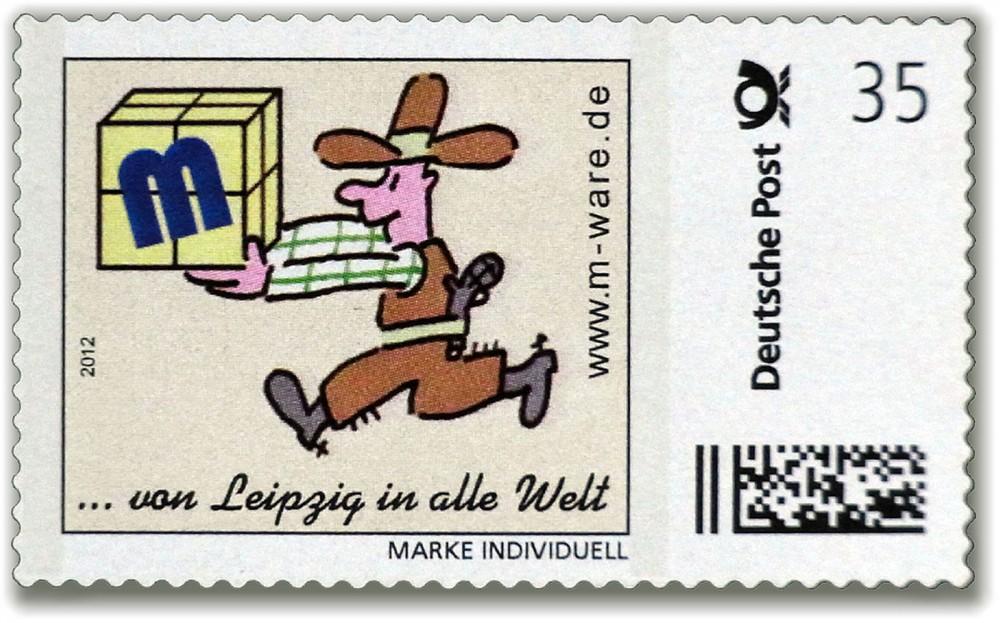 Cartoon-Briefmarke Cowboy 2012