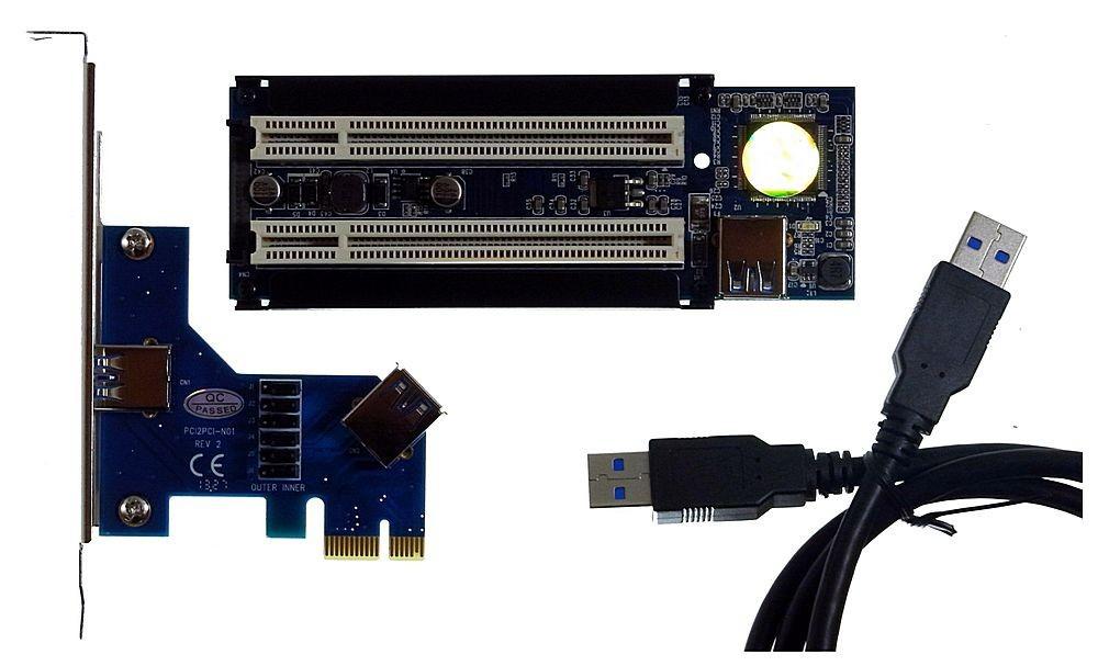 PCIe x1 an Dual PCI + USB3.0 Controller