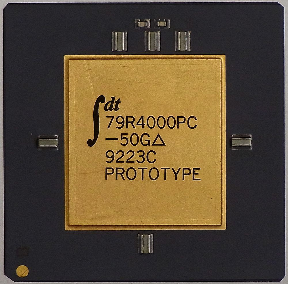 Processor IDT 79R4000PC-50G 9223C CPU Prototype