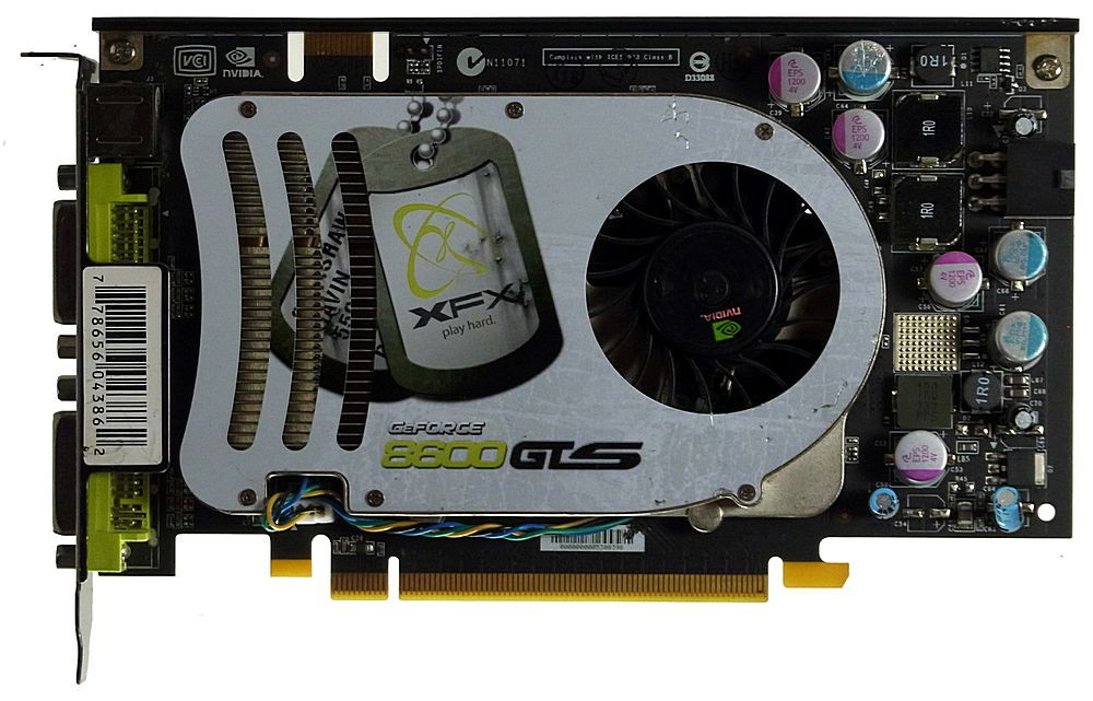 256MB nVidia GF8600GTS XFX PCIe-Grafikkarte