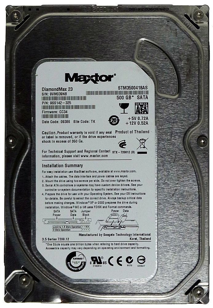 Maxtor Festplatte