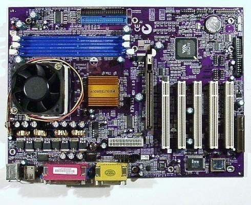 Mainboard ECS K7VTA3 mit Athlon1600+ Sockel A