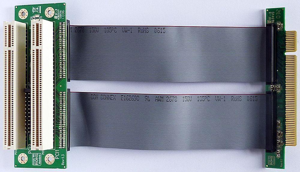 M-ware® 1x PCI an 2x PCI Raiser Riser Flex-Kabel 15cm